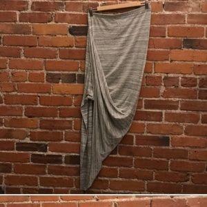Anthropology Dolan asymmetrical skirt light gray